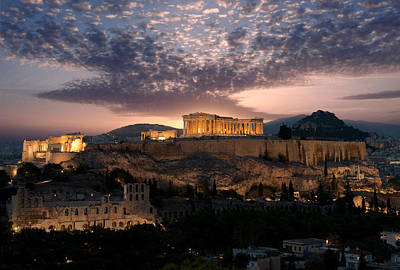 Ruins Of A Temple, Athens, Attica Poster by Panoramic Images