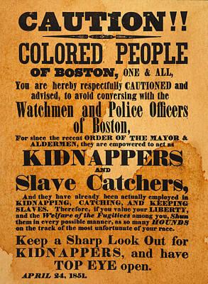 Runaway Slave Handbill Poster by Granger