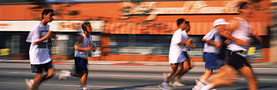 Runners Competing In 10k Race Poster by Panoramic Images