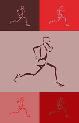Running Runner4 Poster by Joe Hamilton