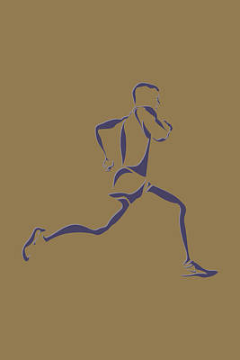 Running Runner8 Poster by Joe Hamilton