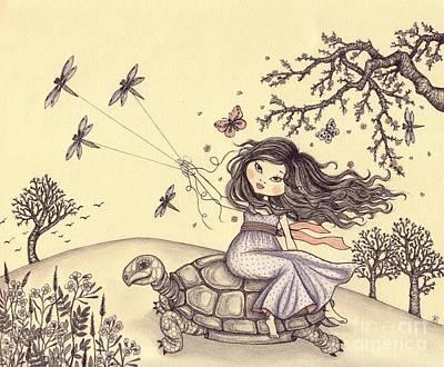Running To The Spring Poster by Snezana Kragulj