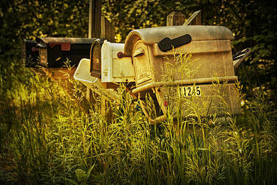 Rural Mail Boxes No.038 Poster by Randall Nyhof