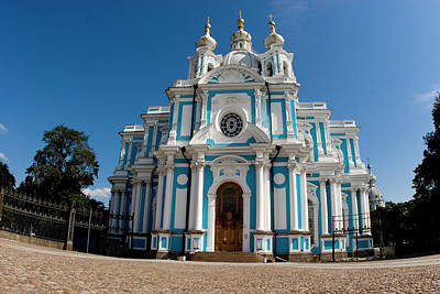Russia, St Petersburg Smolny Cathedral Poster by Jaynes Gallery