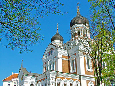 Russian Orthodox Church Across From Toompea Castle Courtyard In Old Town Tallinn-estonia Poster by Ruth Hager