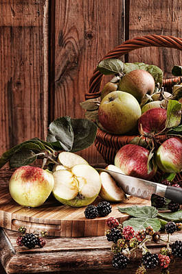 Rustic Apples Poster by Amanda And Christopher Elwell