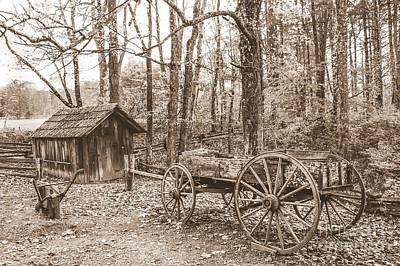 Rustic Wagon Poster by Debbie Green