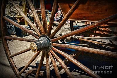 Rustic Wagon Wheel Poster by Paul Ward