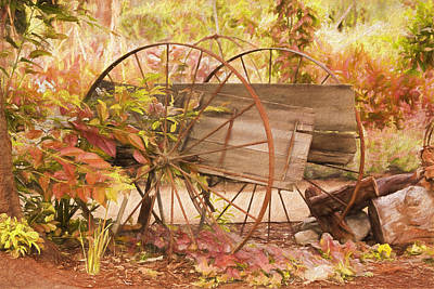 Rustic Wheels Poster by Kim Hojnacki