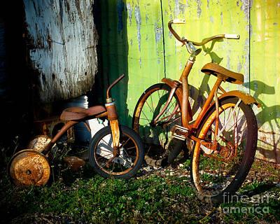 Rusty Bike Rides Poster by Sonja Quintero
