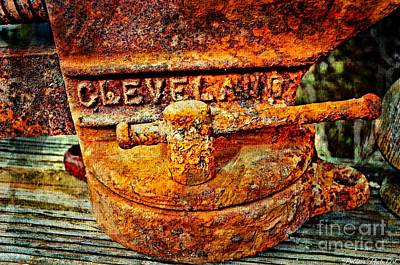 Rusty Vise II Poster by Debbie Portwood
