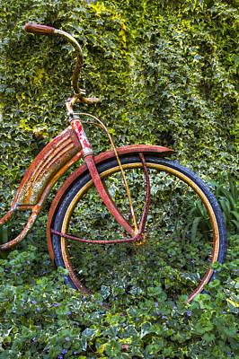 Rusty Wheel Poster by Debra and Dave Vanderlaan