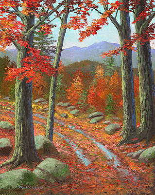 Autumn Rutted Road Poster by Frank Wilson