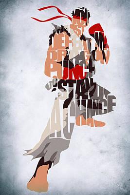 Ryu - Street Fighter Poster by Ayse Deniz