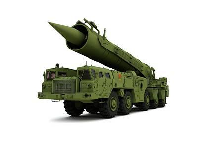 Saber Nuclear Missile Poster by Mikkel Juul Jensen