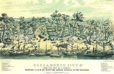 Sacramento California 1849 Poster by Padre Art