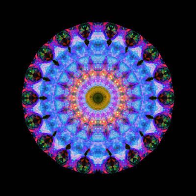 Sacred Crown - Mandala Art By Sharon Cummings Poster by Sharon Cummings