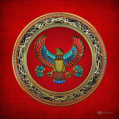 Sacred Egyptian Falcon Poster by Serge Averbukh