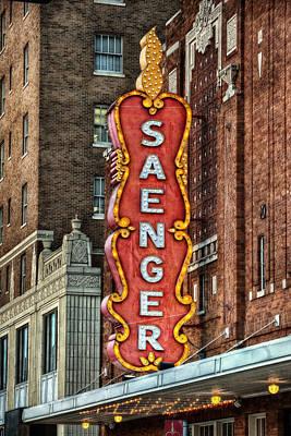 Saenger Poster by Brenda Bryant
