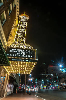 Saenger Theatre Poster by Andy Crawford