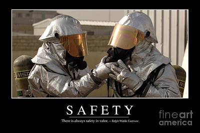 Safety Inspirational Quote Poster by Stocktrek Images