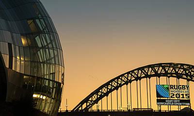 Sage Gateshead And The Tyne Bridge Poster by John Short