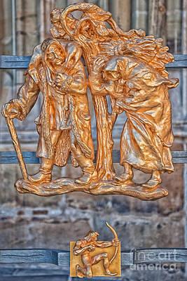 Sagittarius Zodiac Sign - St Vitus Cathedral - Prague Poster by Ian Monk
