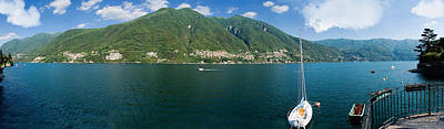 Sailboat In A Lake, Lake Como, Como Poster by Panoramic Images