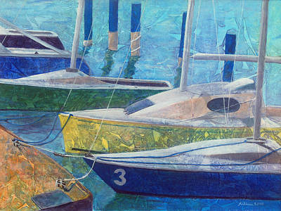 Sailboats In Harbor  Poster by Arlissa Vaughn