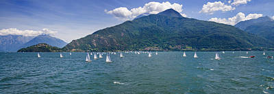 Sailboats In The Lake, Lake Como, Como Poster by Panoramic Images