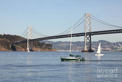 Sailing In The San Francisco Bay - 5d20823 Poster by Wingsdomain Art and Photography