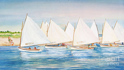 Sailing In The Summertime II Poster by Michelle Wiarda