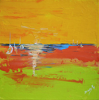 Sailing Into Summer Poster by Donna Blackhall