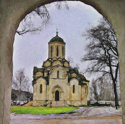 Saint Andronic Monastery In Moscow 3 Poster by Yury Malkov