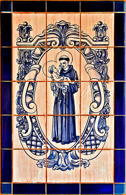 Saint Anthony Of Padua Poster by Christine Till