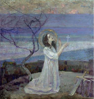 Saint Barbara Poster by Mikhail Vasilievich Nesterov