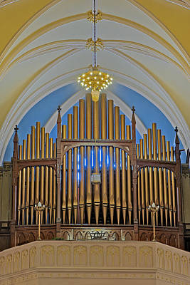 Saint Bridgets Pipe Organ Poster by Susan Candelario