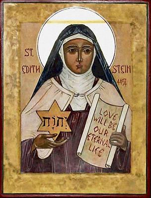 Saint Edith Stein Poster by Fr Richard G Cannuli OSA