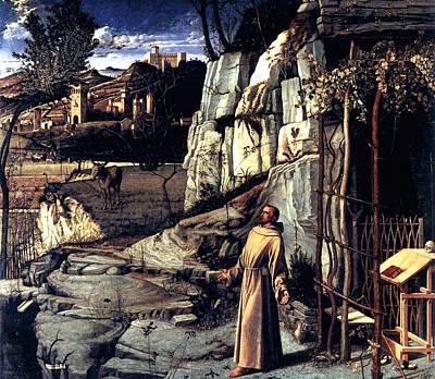 Saint Francis In Ecstasy 1485 Giovanni Bellini Poster by Karon Melillo DeVega