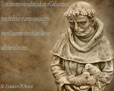 Saint Francis Of Assisi Poster by Dan Sproul