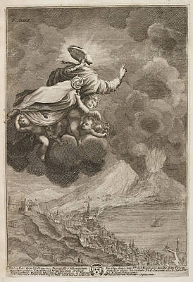 Saint Gennaro Being Carried Up To Heaven Poster by British Library