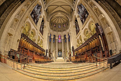 Saint John The Divine Cathedral High Altar  IIi Poster by Susan Candelario