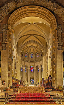 Saint John The Divine Cathedral High Altar  Poster by Susan Candelario
