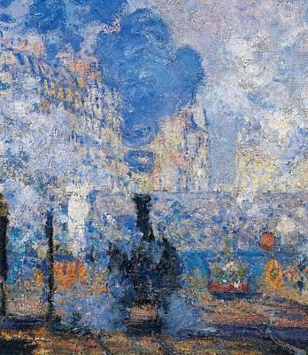 Saint Lazare Station Poster by Claude Monet