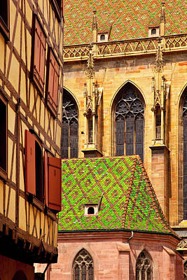 Saint-martin Church, Colmar Alsace Poster by Brian Jannsen