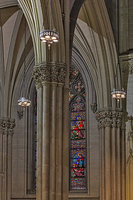 Saint Patrick's Cathedral Stained Glass Window Poster by Susan Candelario