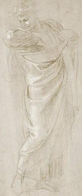 Saint Paul Rending His Garments Poster by Raphael