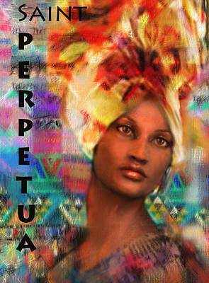Saint Perpetua Of Carthage Poster by Suzanne Silvir