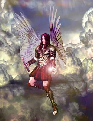 Saint Raphael The Archangel Poster by Suzanne Silvir