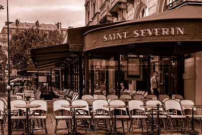 Saint Severin Cafe Toned Poster by Georgia Fowler